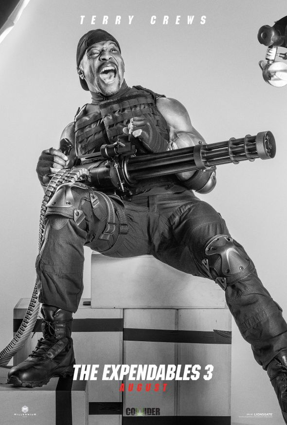 """Terry Crews as Hale Caesar in the film """"The Expendables 3."""" Photo Credit: Lionsgate via Collider"""