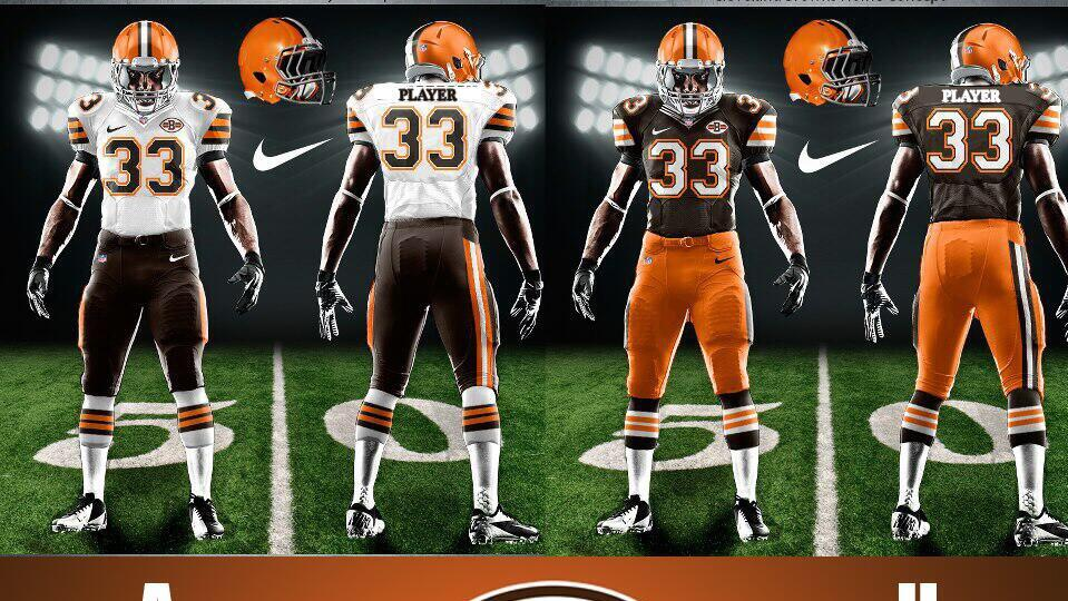 Cleveland Browns new uniform concept said to be accurate (Photo)