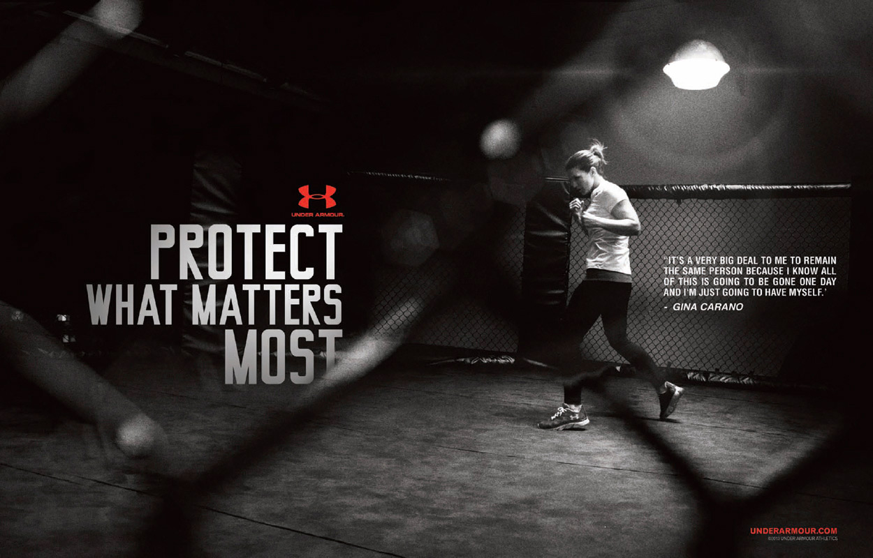 Under Armour Protect This House Poster Gina Carano in Under A...