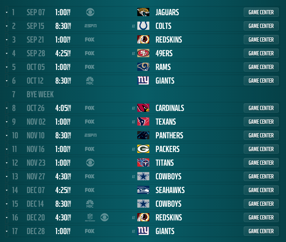 Image Result For Eagles Schedule
