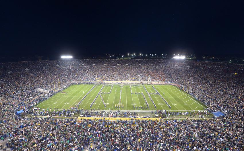 top 25 ncaa football schedule what is the score of the notre dame game