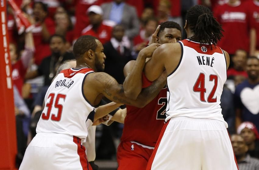 nba playoffs 2014 nene facing onegame suspension for
