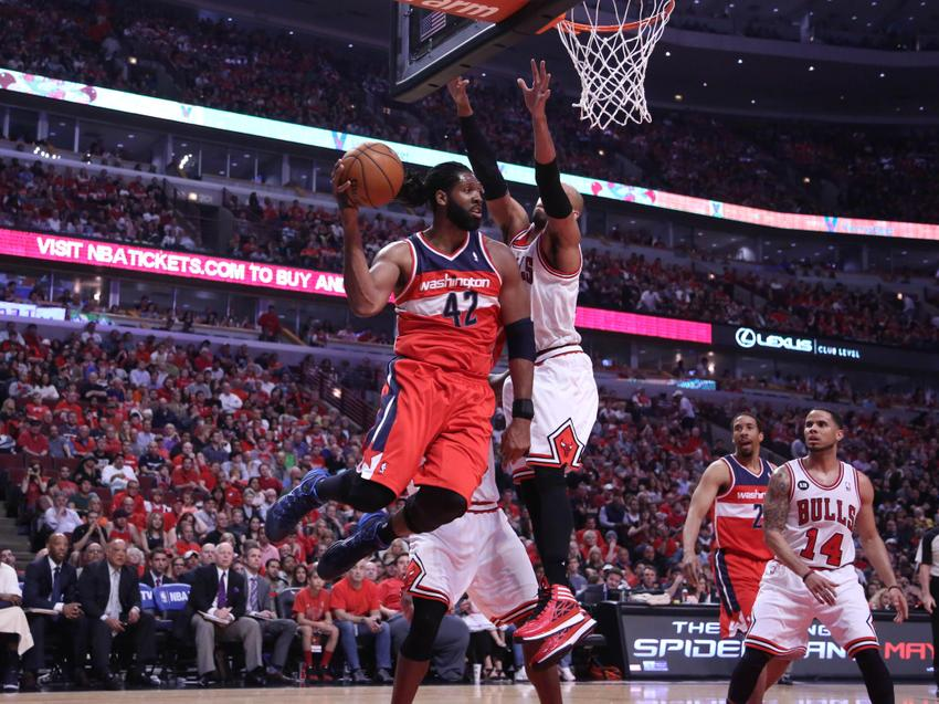 nba playoffs 2014 wizards center nene says hes sore