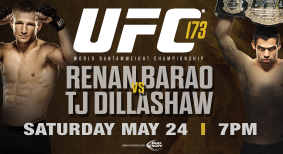UFC 173 takes place May 24 at the MGM Grand Garden Arena in Las Vegas, Nevada. The event will air live on pay-per-view .