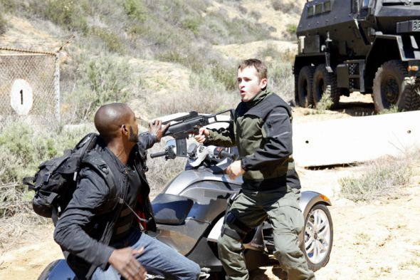 "B.J. Britt as Agent Triplett in the Season Finale of ""Marvel's Agents of S.H.I.E.L.D."" entitled ""Beginning of the End."" Photo Credit: ABC/Kelsey McNeal"