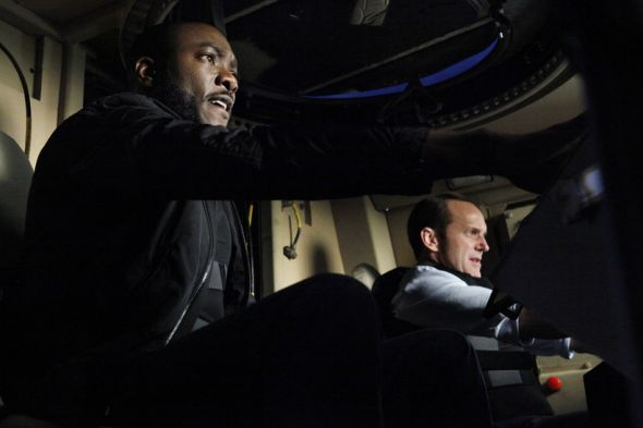 "Clark Gregg and B.J. Britt as Agents Coulson and Triplett in the Season Finale of ""Marvel's Agents of S.H.I.E.L.D."" entitled ""Beginning of the End."" Photo Credit: ABC/Kelsey McNeal"