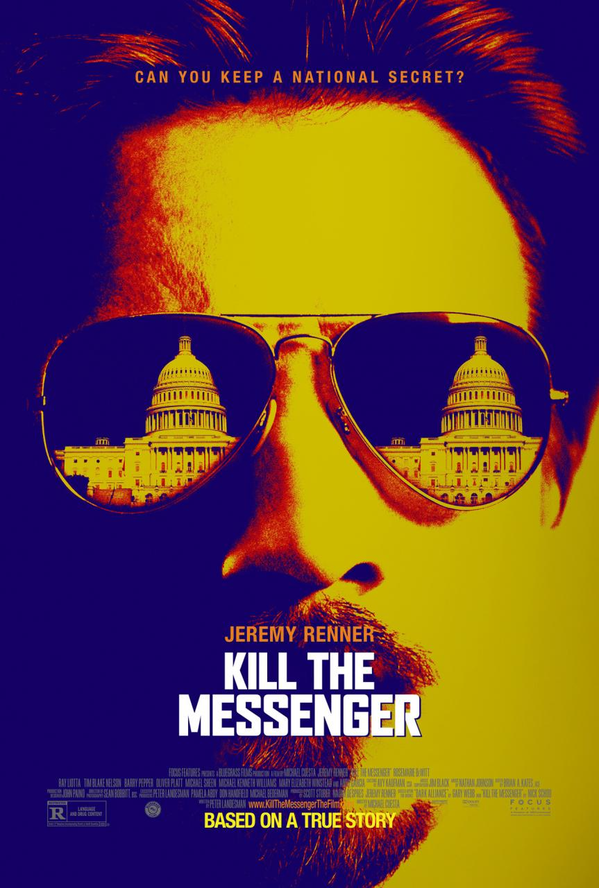 A close up of a man wearing sunglasses with the capital building reflected in the lens'. Movie poster.