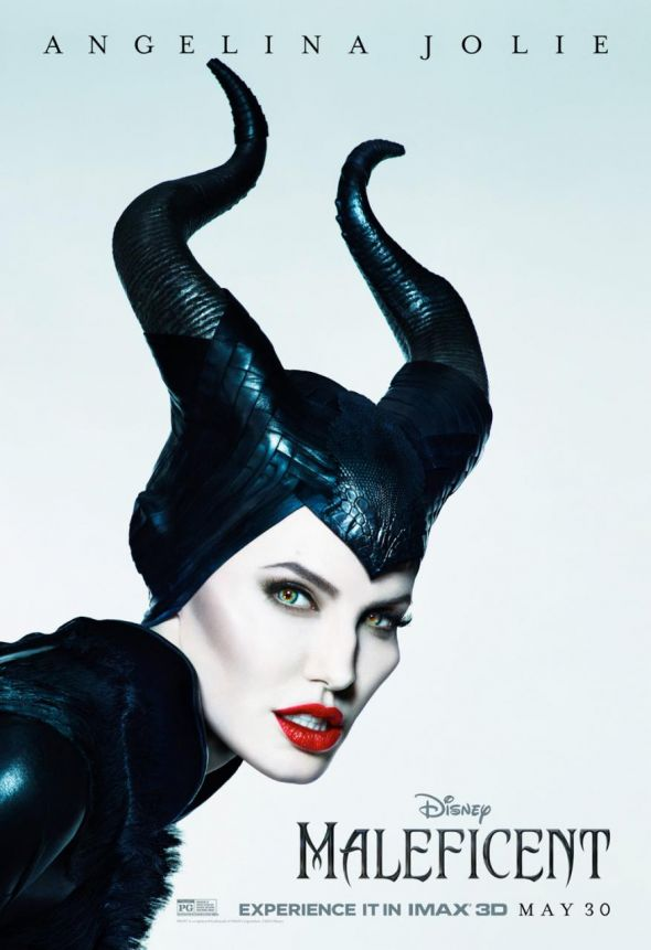 Angelina Jolie as Maleficent in the new IMAX Poster for the film. Photo Credit: Disney