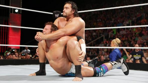 Rusev palces Zack Ryder in the Accolade. Photo Credit: WWE.com
