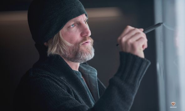 "Woody Harrelson as Haymitch Abernathy in ""The Hunger Games: Mockingjay Part 1."" Photo Credit: Lionsgate"