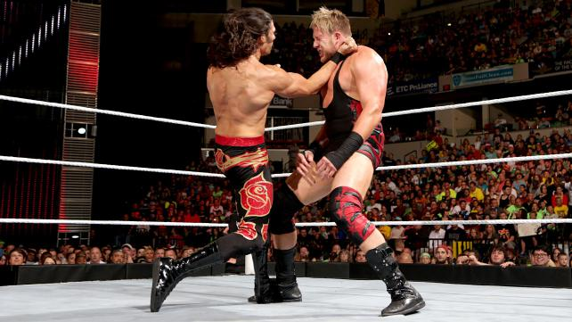 Rose delivers a blow to Jack Swagger. Photo credit: WWE.com