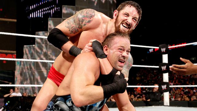 Barrett defends his title against RVD. Photo credit: WWE.com