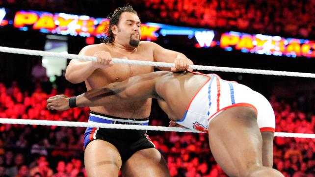 Big E delivers one of the spots of the night: a spear to Rusev that takes both big men to the floor.