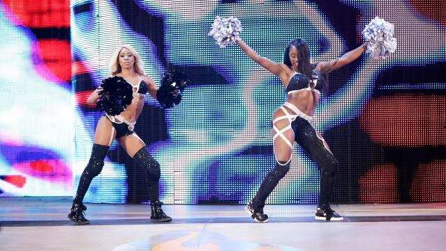 The Funkadactyls, sans Brodus Clay, make their entrance. Photo credit: WWE.com
