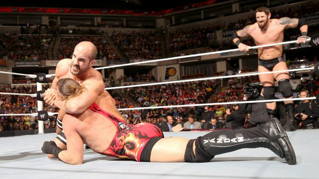 Cesaro and RVD compete in a tag match that I simply couldn't get into. Photo credit: WWE.com
