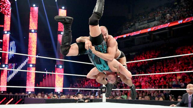 Cesaro neturalizes RVD and spares me from the terror of the possibility of a RVD title reign. Photo credit: WWE.com