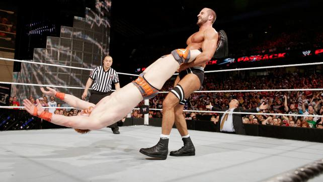 Cesaro shows why he is the king of swing...even though it didn't seem to phase Sheamus. Photo credit: WWE.com