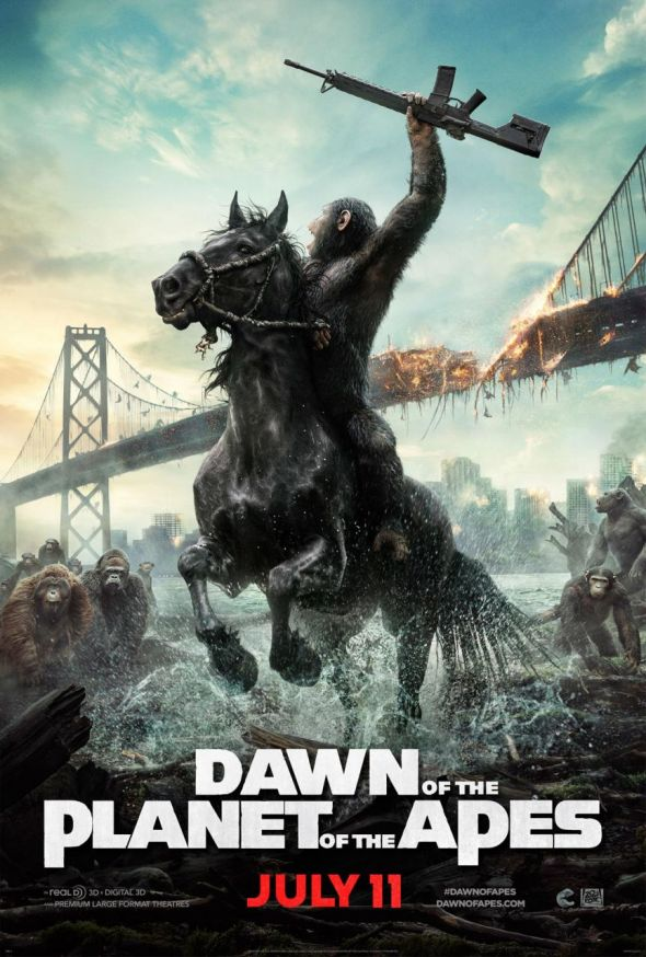 "Promotional Poster for ""Dawn of the Planet of the Apes."" Photo Credit: Twentieth Century Fox"