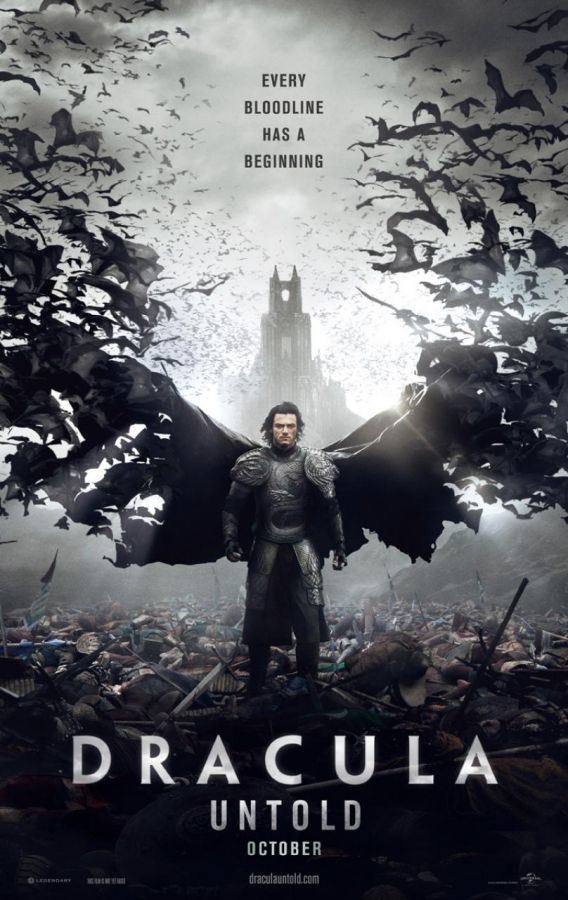 "Luke Evans as Vlad Tepes in the poster for the film ""Dracula Untold."" Photo Credit: Universal Pictures/Legendary Pictures"