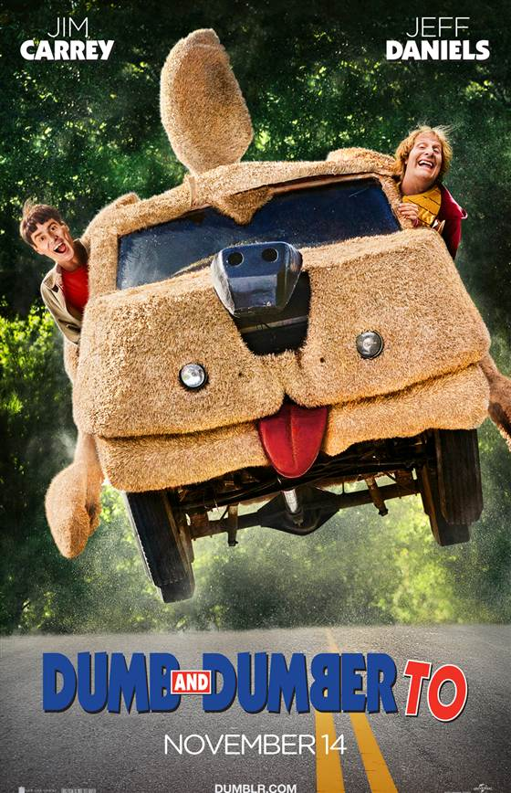 "Jim Carrey and Jeff Daniels in a promotional poster for ""Dumb and Dumber To."" Photo Credit: Universal Pictures via Today"