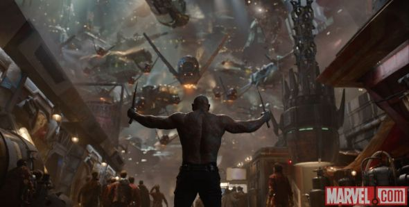 "Dave Bautista as Drax the Destroyer in ""Guardians of the Galaxy."" Photo Credit: Marvel"