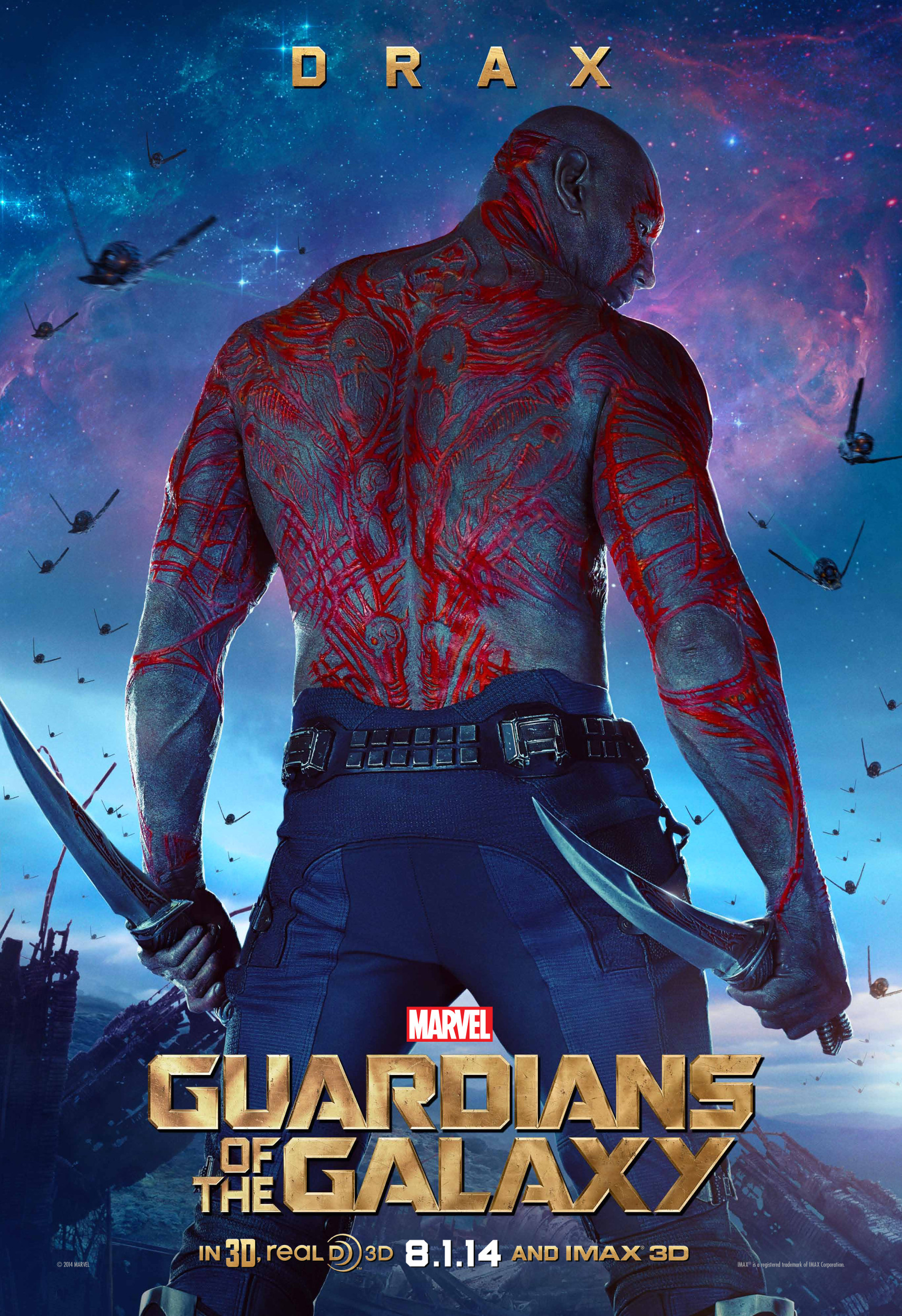 Ready for action in new character poster for guardians of the galaxy