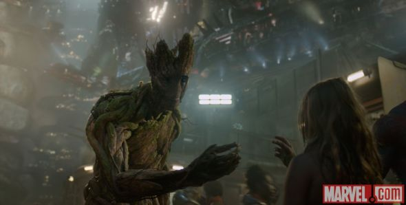 "Groot, who is voiced by Vin Diesel, in ""Guardians of the Galaxy."" Photo Credit: Marvel"