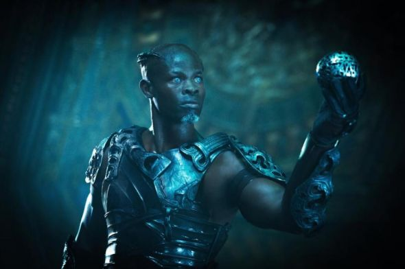 "Djimon Hounsou as Korath in the film ""Guardians of the Galaxy."" Photo Credit: Marvel"