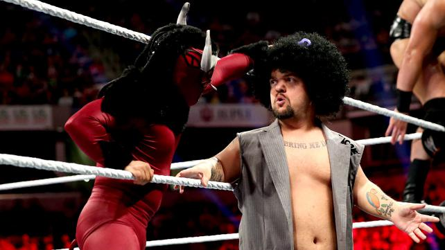 That moment when Froswoggle is about to pass his powers on to El Froito. Photo credit: WWE.com