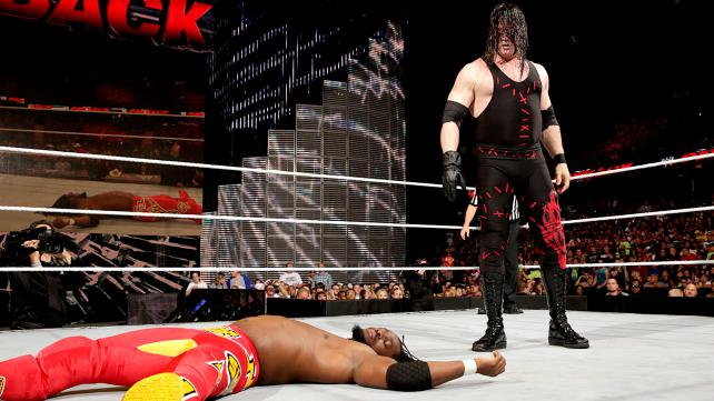 Kofi was supposed to face Bo Dallas, but instead got taken out by Kane. Photo credit: WWE.com