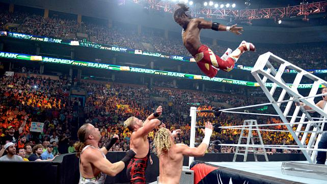 Kofi Kingston was in this match specifically for this spot. Photo credit: WWE.com