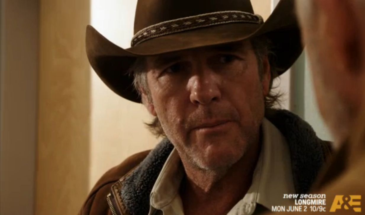 "Taylor as Walt Longmire in Season 3 of ""Longmire."" Photo Credit: A&E"