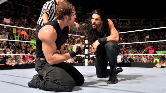 The Shield emerges victorious against the Wyatt Family. Photo credit: WWE.com