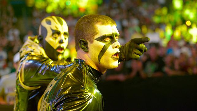 When you wish upon a star, Stardust appears on TV and makes all your dreams come true. Photo credit: WWE.com