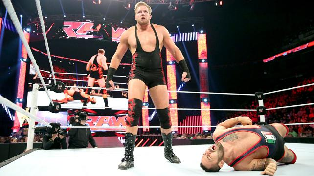 Swagger takes on Santino, but I'm not sure why. Photo credit: WWE.com