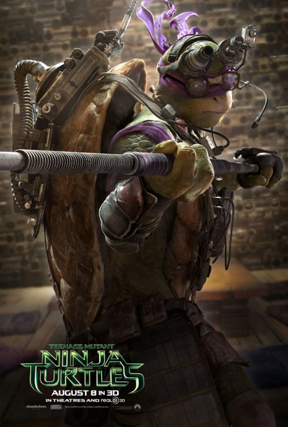 """Donatello in a new character poster for """"Teenage Mutant Ninja Turtles."""" Photo Credit: Paramount Pictures"""