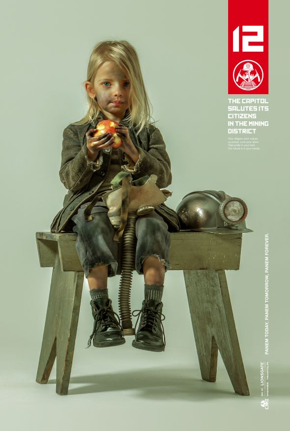 """Capitol propaganda poster for District 12 from """"The Hunger Games: Mockingjay Part 1."""" Photo Credit: Lionsgate"""