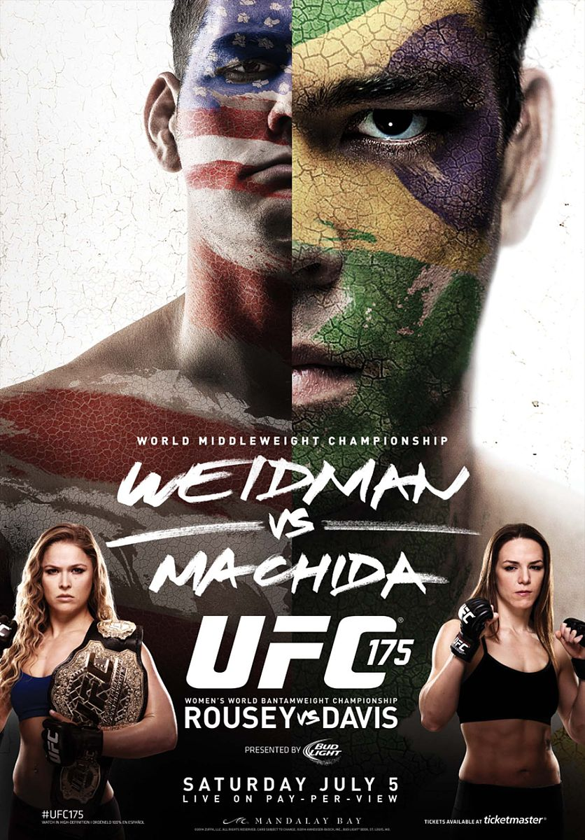 UFC 175 - Weidman vs Machida. Rousey vs Davis