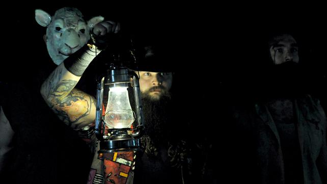 The Wyatt Family awaits their match with The Shield on RAW. Photo credit: WWE.com