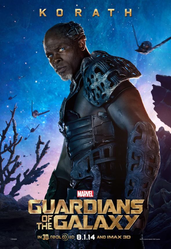 "Djimon Hounsou as Korath the Pursuer in a promotional poster for ""Guardians of the Galaxy."" Photo Credit: Marvel via IGN"