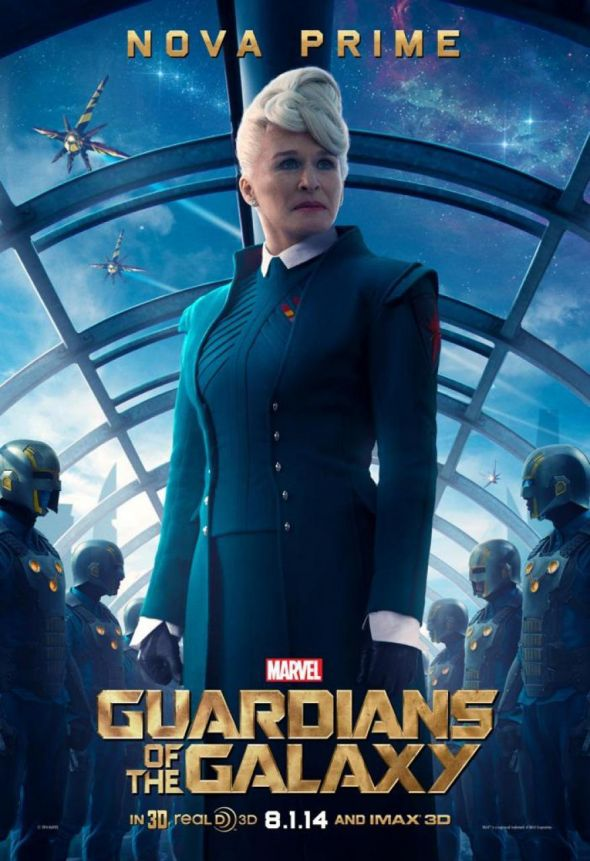 "Glenn Close as Nova Prime Irani Rael in a promotional poster for ""Guardians of the Galaxy."" Photo Credit: Marvel"