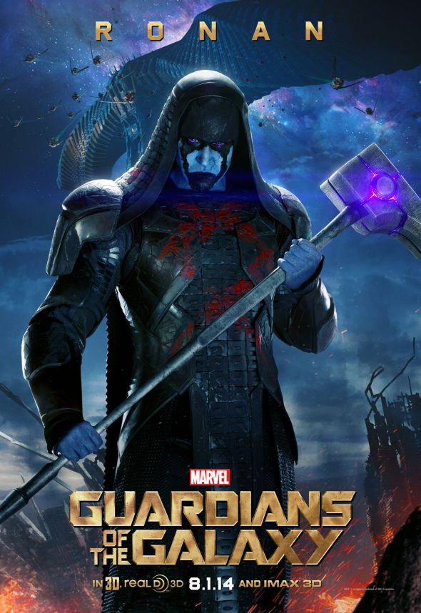 "Lee Pace as Ronan the Accuser in a promotional poster for ""Guardians of the Galaxy."" Photo Credit: Marvel via IGN"