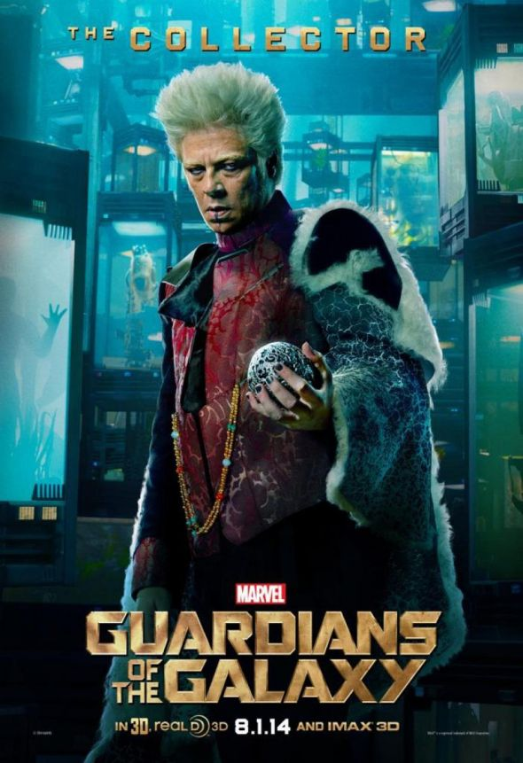 """Benicio del Toro in a character poster for the film """"Guardians of the Galaxy."""" Photo Credit: Marvel"""