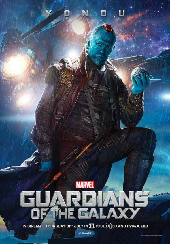 "Michael Rooker as Yondu in a promotional poster for ""Guardians of the Galaxy."" Photo Credit: Marvel"