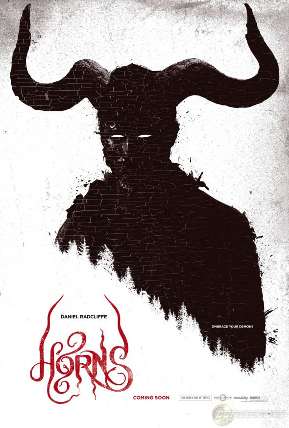 "Promotional poster for the horror film ""Horns"" starring Daniel Radcliffe. Photo Credit: Dimension Films"
