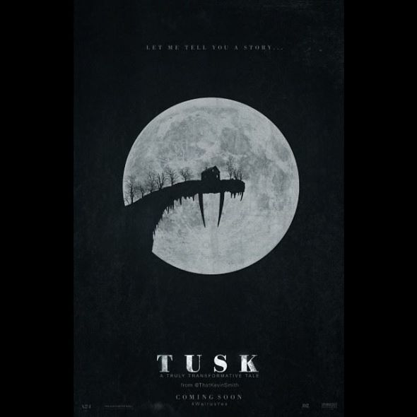 """First official poster for the film """"Tusk."""" Photo Credit: A24, Demarest Films, Kevin Smith"""