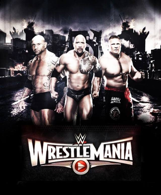 Image result for wrestle mania 2015 poster