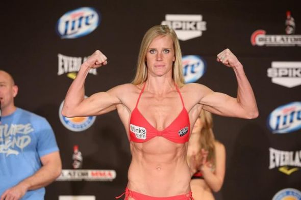 Holly Holm weighing in. (Photo Credit: HollyHolm.com)