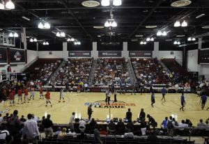 Jul 14, 2013; Las Vegas, NV, USA; The New York Nicks and the Washington Wizards participate in pregame warmups before an NBA Summer League game inside the Cox Pavillion. Mandatory Credit: Stephen R. Sylvanie-USA TODAY Sports