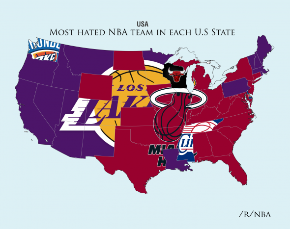 Clippers voted most hated nba team in tennessee in poll the miami heat hate in the southern region the los angeles clippers appeared in mississippi and tennesseetwo teams who strongly support the grizzlies publicscrutiny Gallery